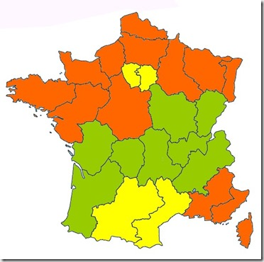 carte zones académies