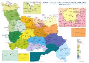 Carte des groupements de commune (provisoire)