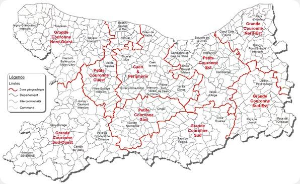 Carte intercom   zones géo